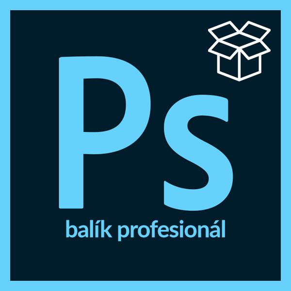 Balík Adobe Photoshop profesionál - Photoshop I., II., III. - od základov až po webdesign a kreatívu