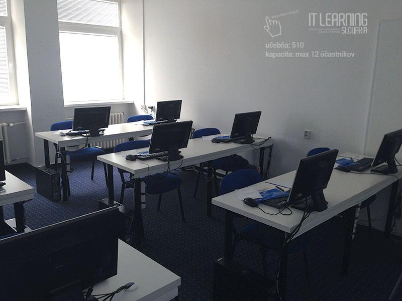 Počítačové kurzy v Bratislave - učebňa 510