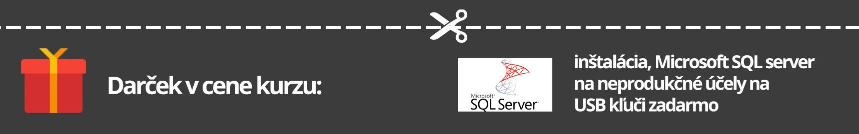 Darček ku kurzu zadarmo, Inštalácia Microsoft SQL