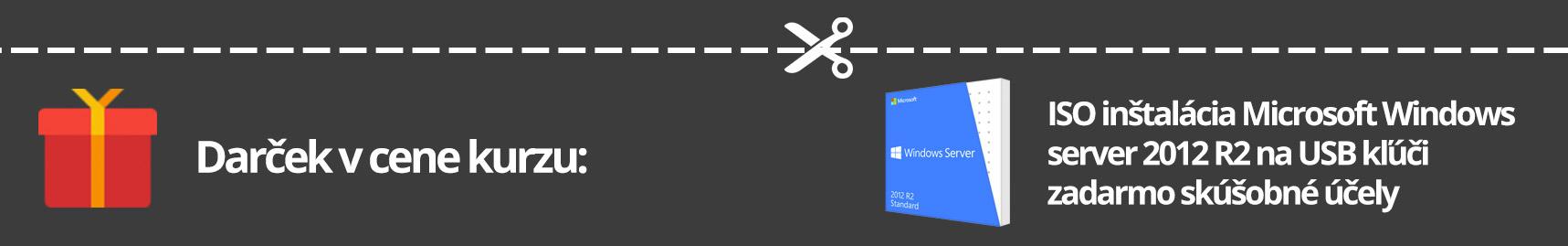 Darček ku kurzu zadarmo, ISO inštalácia Microsoft