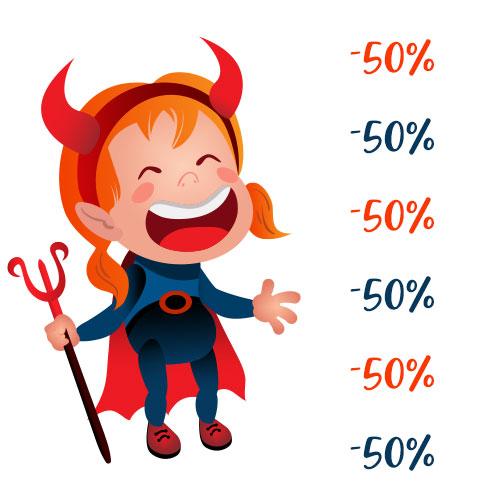 Čertovská ponuka - zľavy na kurzy - 50%