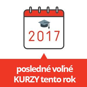 Stihnite kurzy ešte tento rok - posledné voľné miesta na otvorené kurzy