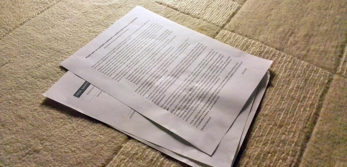 CV a motivačný list - základ pri uchádzaní sa o prácu