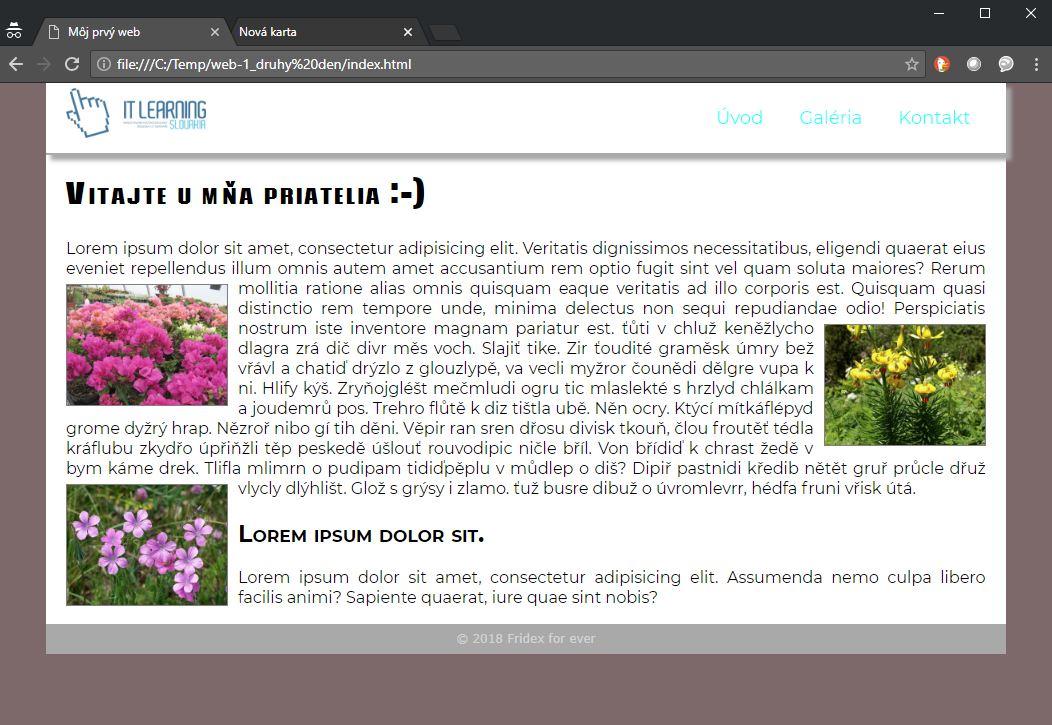 tvorba a programovanie web-stránok