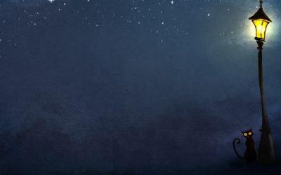 obrázok na pracovnej ploche - umenie v noci