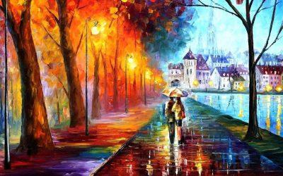 obrázok na pracovnej ploche - pod dáždnikom - art