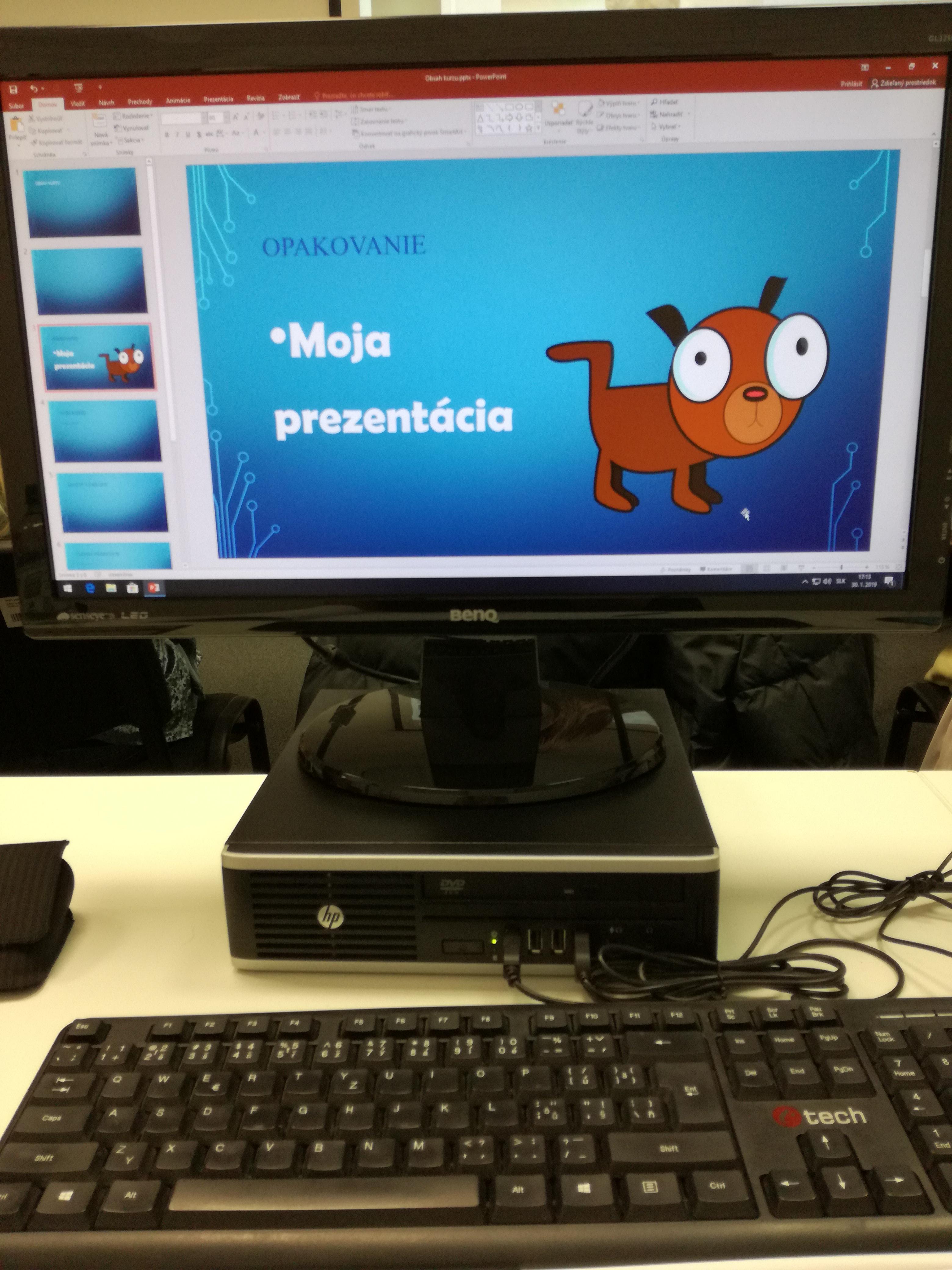 PC - ukážka prezentácie