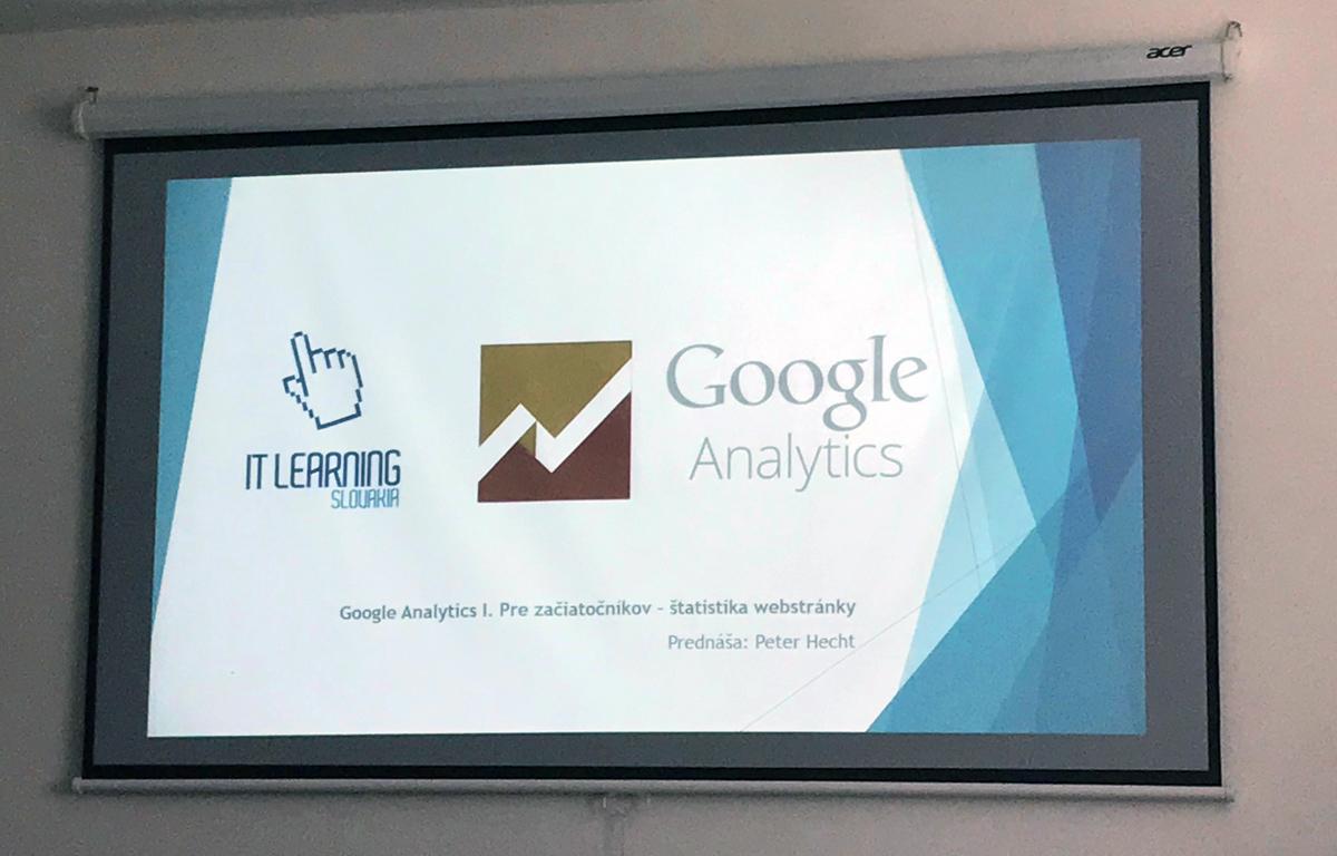Kurz Google Analytics - úvodná obrazovka