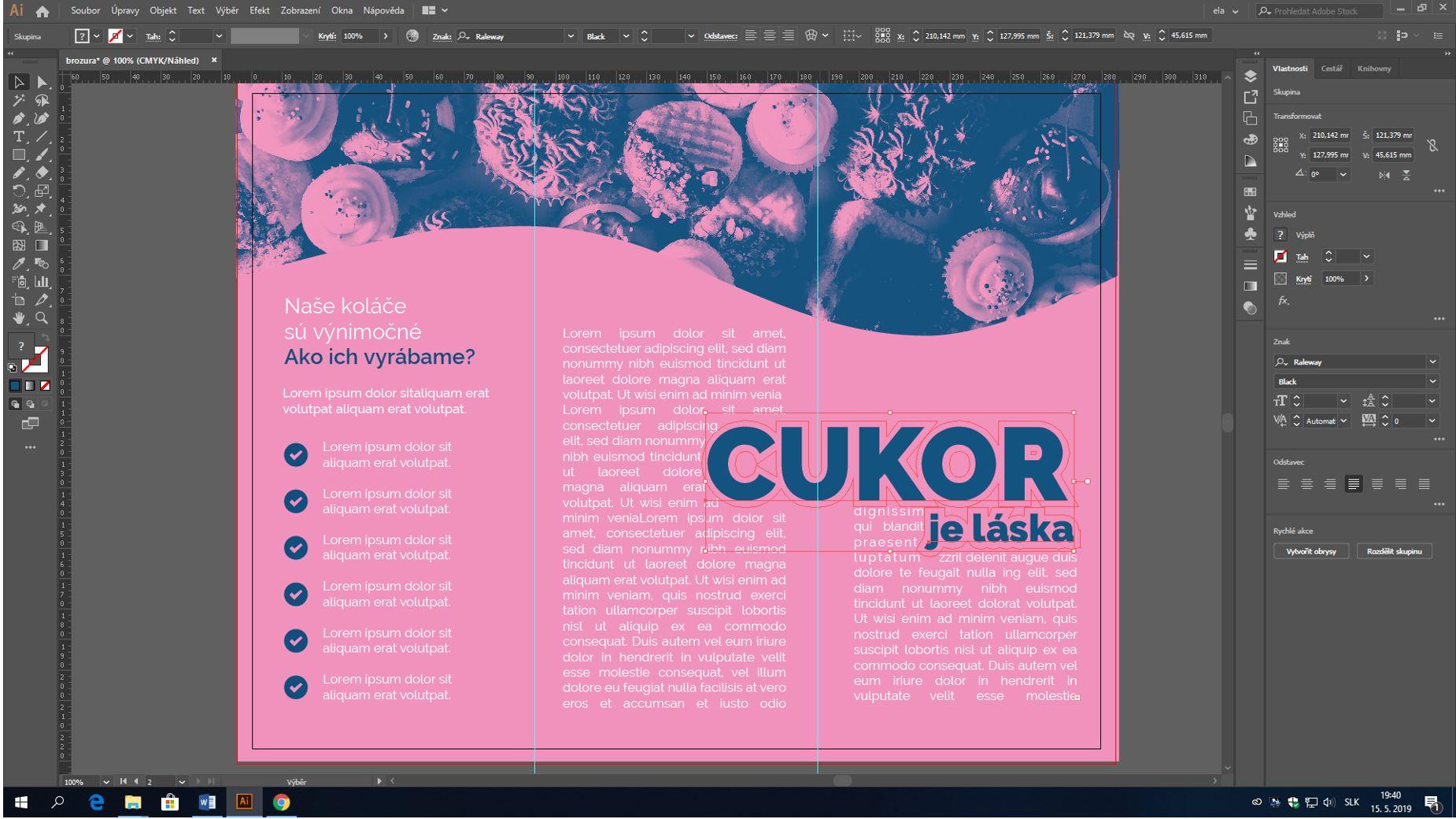 obtekanie textu v adobe illustrator
