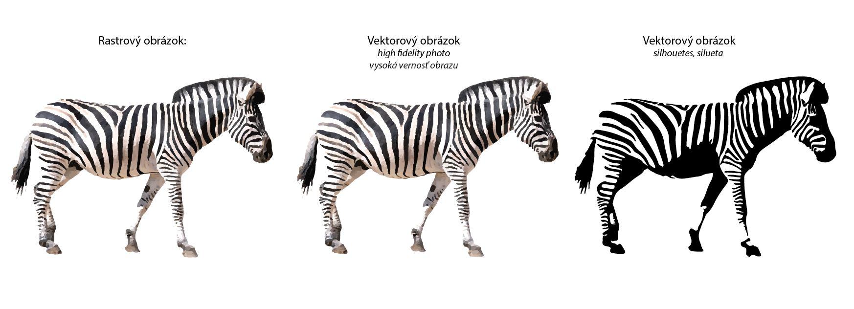 adobe illustrator - zebra ako priklad vektorizacie obrazu