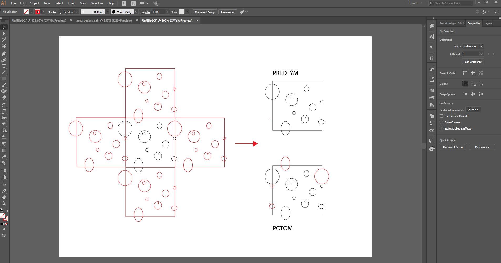 pattern - simulácia vzoru