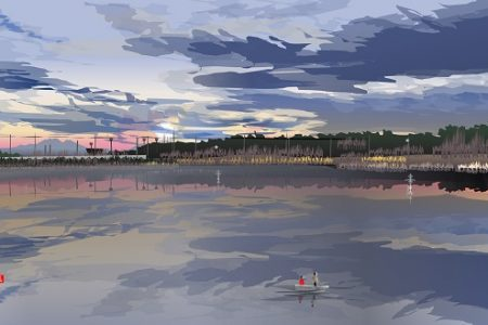 Na jazere - Tacuo Horiuči (obraz)