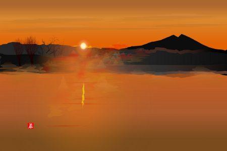 Západ slnka 2 - Tacuo Horiuči (obraz)