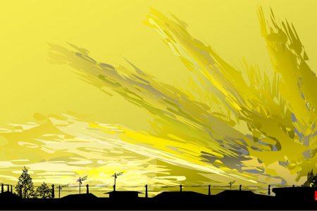 Západ slnka 4 - Tacuo Horiuči (obraz)