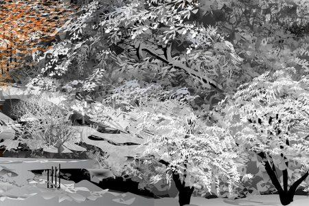Zimná krajina - Tacuo Horiuči (obraz)