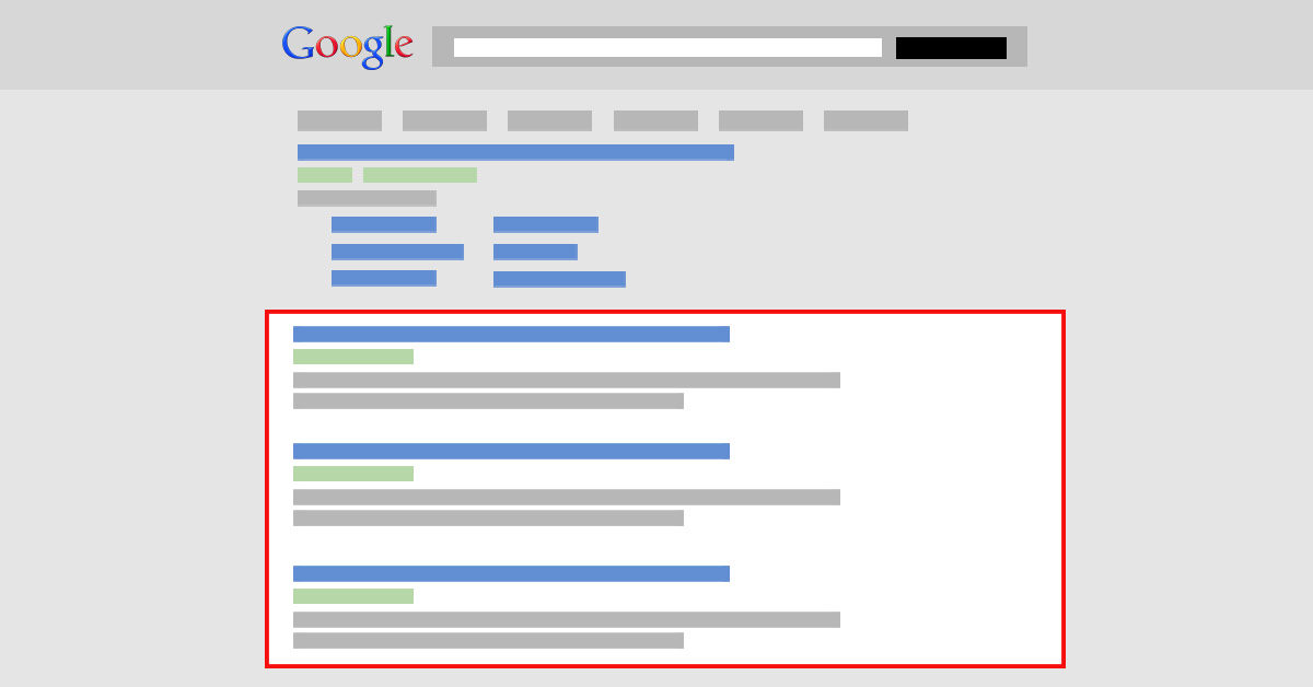 organicke vysledky vyhladavania na googli