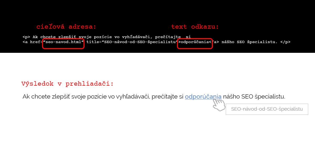 príklad hypertextu