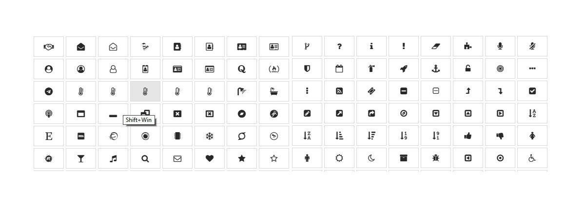 ikony dostupné cez page builder WPBakery