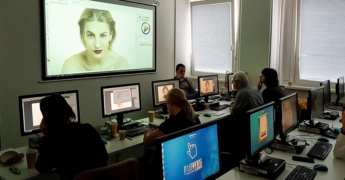 učastníci kurzu Adobe Camera RAW