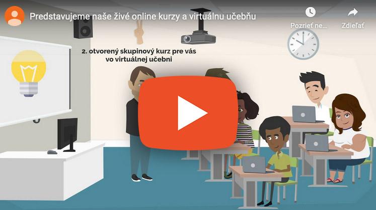 Novinka - skupinové živé online kurzy