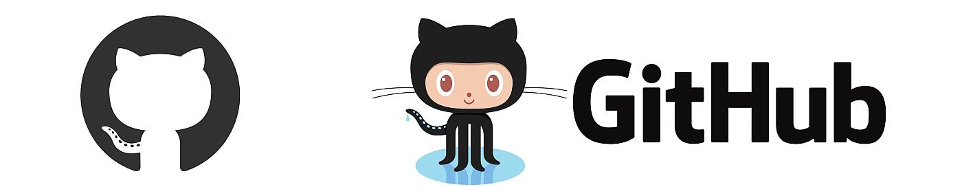 GitHub logo vľavo, vpravo upravené logo pre súkromný blog