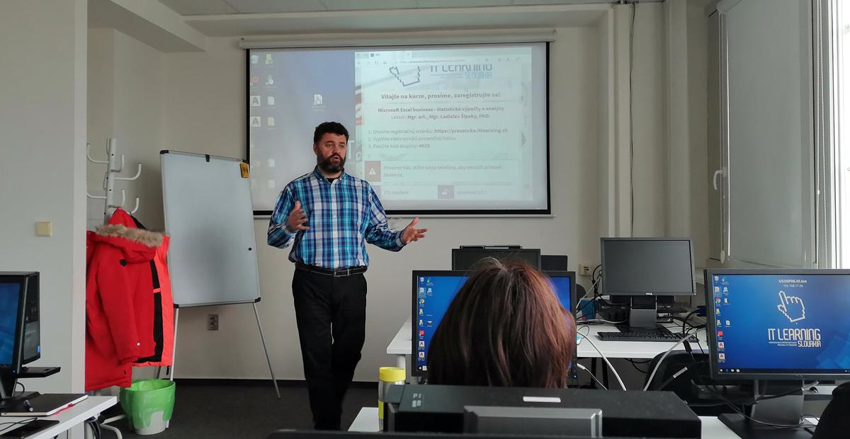 štatistika v Exceli - úvod školenia - lektor Mgr. art. Ladislav Šipeky, PhD.