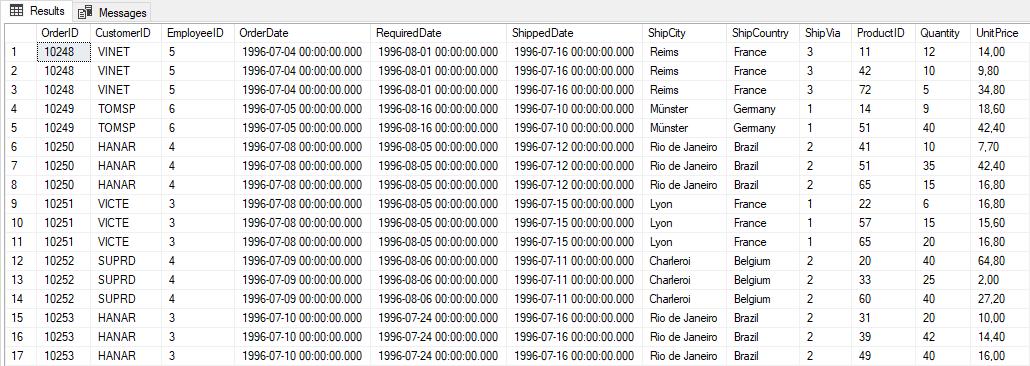 Ako sa stať analytikom - databázy - ukážka inej databázovej tabuľky