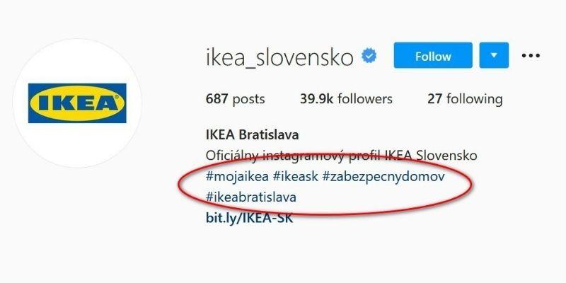 príklady hashtagov v praxi - ikea_slovensko