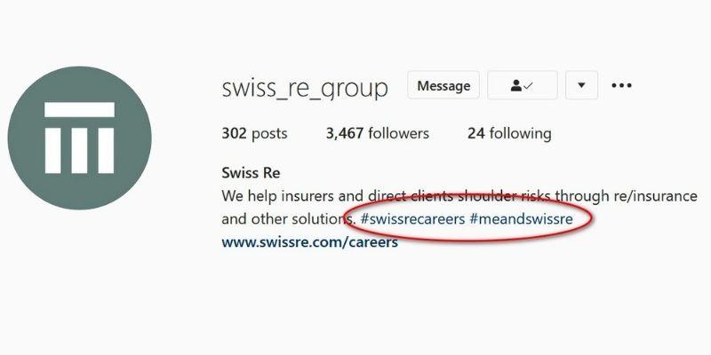 príklady hashtagov v praxi - swiss_re_group