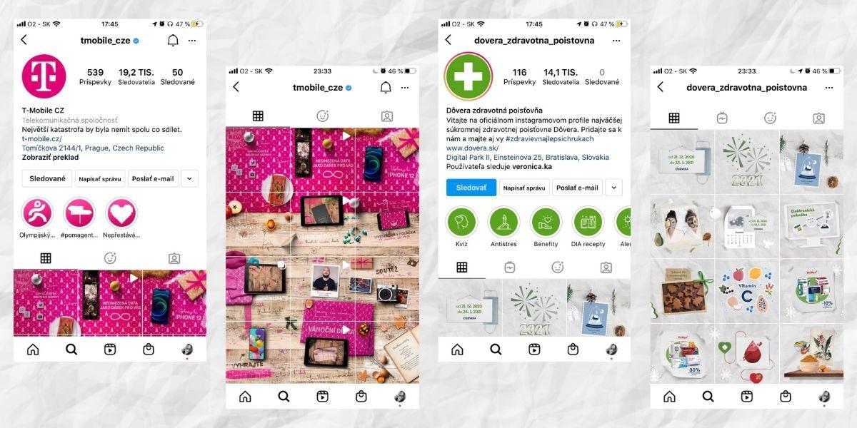 Instagram - prispevky na biznis profile