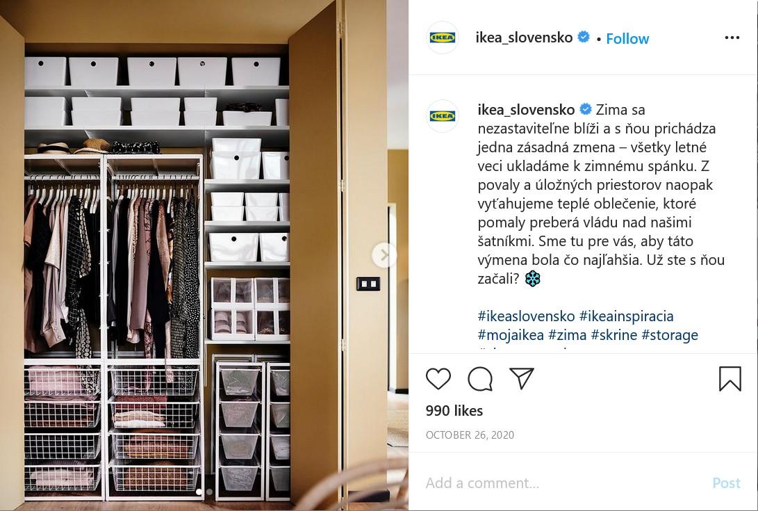 IG aké príspevky dávať na Instagram - príklad 2