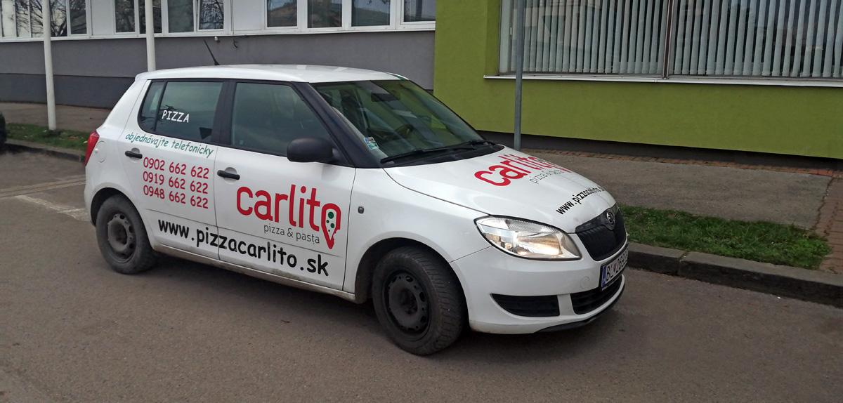 Doprava pre e-shop? Dodanie stravy v Bratislave autami pizzerie Carlito