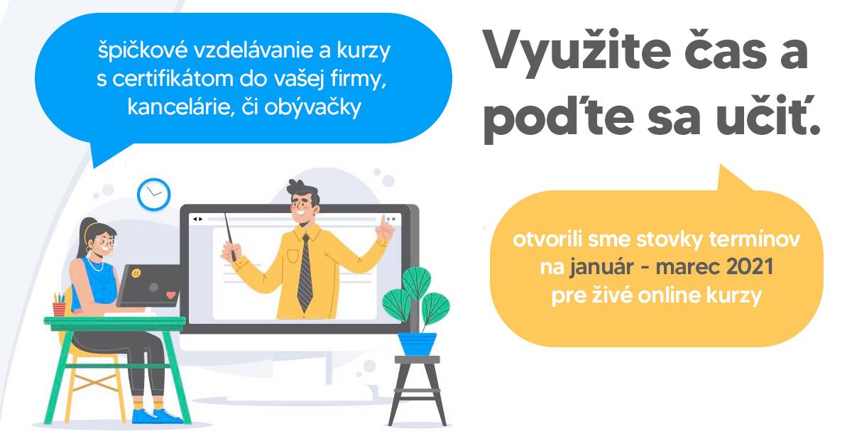Aktuálna akcia na IT kurzy a počítačové a marketingové kurzy v Bratislave