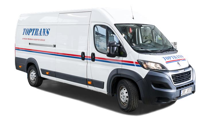 Doprava pre e-shop? Dodávkové auto spoločnosti TOPTRANS