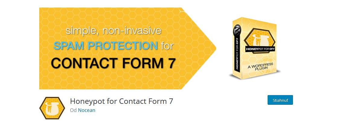 skvelý plugin proti spamu Honeypot