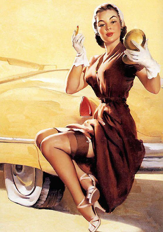 reklamný obrázok dámy s účesom COco Chanel populárnym v 50-tych rokoch