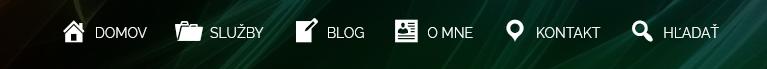 príklad menu s ikonami a textom
